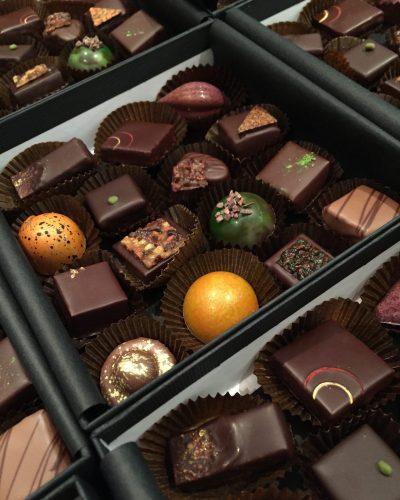 Boites des 15 créations chocolatées - Genève 2018